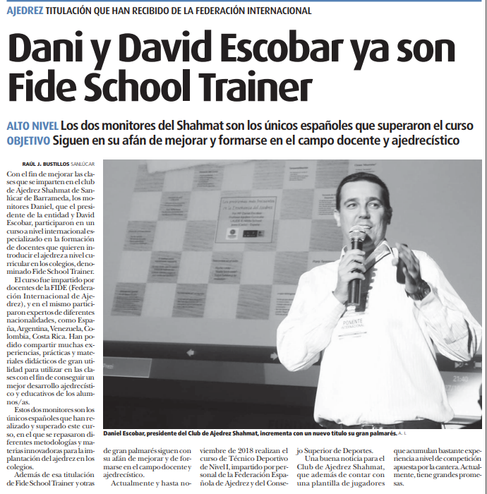 FIDE SCHOOL TRAINER