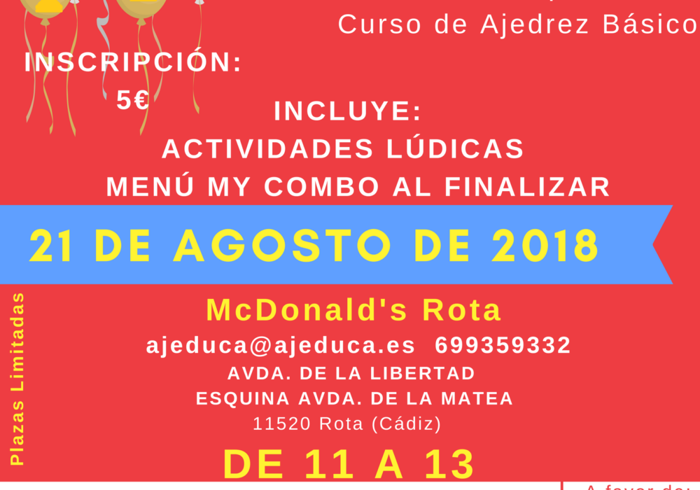 AJEDUCA organiza una Chess Party con Mc Donald's
